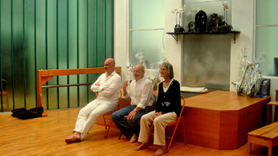 Charles Hond, Clé Souren en Annemieke Post - Senior Iyengar yoga teachers.